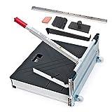 Schnittbreite 630 mm - Der Bautec PROFI Laminatschneider - Parkettschneider - Vinylschneider inkl. 2 Klingen, Rollen und Teleskophebel und 18teiligem Verlege...