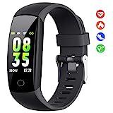 HETP Fitness Armband mit Pulsmesser, 【2019 Fitness Tracker Uhr mit Blutdruckmesser, Schlafüberwachung, IP67 Wasserdicht Schrittzähler, Kalorienzähler für...