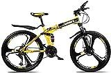 Aoyo 26inch Mountainbike Rennräder, 27-Gang-Doppelscheibenbremse Fully Anti-Rutsch, leichte Alurahmen, Federgabel,