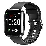 Letsfit Smartwatch, Fitnessuhr mit Schrittzähler, Fitness Tracker IP68 Wasserdicht Sportuhr Smart Watch mit Pulsuhr und Blutsauerstoff-Monitor für Damen...