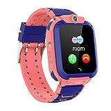 PTHTECHUS Kinder GPS Intelligente Uhr Wasserdicht, Smartwatch GPS Tracker mit Kinder SOS Handy Touchscreen Spiel Kamera Voice Chat Wecker für Jungen Mädchen...