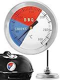 HomeTools.eu® - Temperatur-Beständiges, analoges BBQ Grill-Thermometer Koch-Thermometer, zum Nachrüsten für BBQ Smoker Grill Töpfe Bräter Räucher-Ofen,...