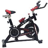 ISE Indoor Cycle Ergometer Heimtrainer mit LCD Anzeige,Armauflage,Pulsgurt&gepolsterte,8kg Schwungrad,Fitnessbike Speedbike mit flüsterleise...