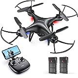 Tomzon Drohne mit Kamera 1080P FHD für Anfänger, FPV 2.4Ghz WiFi Live Übertragung, Verbesserter Propellerschutz, 3D-Flip, Schwerkraftsensor, Kopfloser Modus,...