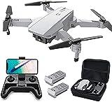 Tomzon Faltbare Drohne mit 4K Kamera, Aktualisiert FPV Quadcopter für Anfänger mit optischer Flusspositionierung, Headless-Modus, Handgesten-Fotografie,...