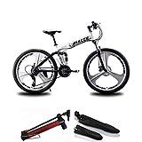 Mountainbike 26 Zoll Bike Faltrad Fahrrad Klapprad Unisex Student, Rahmen Aus Kohlenstoffstahl, 21 Geschwindigkeit, Stoßdämpfung, Sicherheits Brems System,...