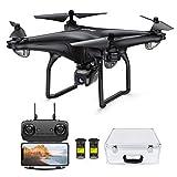 Potensic FPV Drohne mit 1080P HD Kamera, RC Quadrocopter, Dual GPS und Follow me Funktion, Live Übertragung mit 120° Weitwinkel, Hochhaltung, Kopflos Modus, 2...