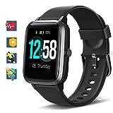 Blackview Smartwatch, Fitness Uhr Voller Touch Screen Fitness Tracker mit Pulsmesser, 5ATM Wasserdicht, Aktivitätstracker Sportuhr Schrittzähler Damen für...