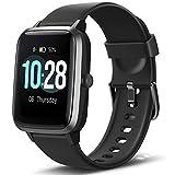 Letsfit Smartwatch, Fitness Tracker Voll Touchscreen Fitness Armbanduhr mit Pulsmesser Schlafmonitor Musiksteuerung, Sportuhr Schrittzähler für Damen Herren...