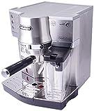 De'Longhi EC 860.M Espresso-Siebträgermaschine, Espressomaschine mit Milchystem für cremigen Cappuccino und Latte Machiato auf Knopfdruck, 1 Liter Wassertank,...