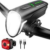 Abenteurer Fahrradlicht , StVZO LED Fahrradbeleuchtung USB fahrradlicht Set fahrradlampe vorne Rücklicht Set Fahrrad Licht mit 4 Licht-Modi 100LUX...