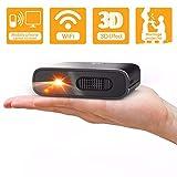 Artlii Mana Mini Beamer - WiFi Beamer DLP mit Eingebaute 5200mAh Akkus Klein Beamer unterstützt 3D Film und Airplay Miracast, Videoprojektor Kompatibel mit...