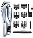 Aibeau Haarschneidemaschine, Professioneller Haarschneider Set für Männer, USB Kabelloses Haartrimmer Set mit LCD Bildschirm