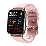SANAG Smartwatch Damen mit Körpertemperatur Messen Fitness Tracker mit Herzfrequenz Schlafüberwachung Kalorien Schrittzähler Damen Herren Armbanduhr Sportuhr...