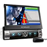 XOMAX XM-VN764 Autoradio mit Mirrorlink, GPS Navigation, Navi Software, Bluetooth Freisprecheinrichtung, 7 Zoll / 18cm Touchscreen Bildschirm, RDS, USB, SD,...