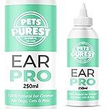 Pets Purest 100% Natürlich Ohrenreiniger für Hunde (250 ml) Eliminiert Jucken, Kopfschütteln & Gerüche in 3 Tagen. Schonende Ohr Reinigung bei Juckreiz,...