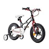 RoyalBaby Kinderfahrrad Jungen Mädchen Space Shuttle Magnesium Fahrrad Stützräder Laufrad Kinder Fahrrad 14 Zoll Schwarz