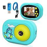 Ushining Kinderkamera, Digitalkamera für Kinder, 1080P HD Videokamera mit 32GB TF Karte 2,4 Zoll IPS Bildschirm, USB Wiederaufladbare Selfie Kamera für 3 bis...