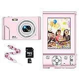CLUINIGO Digitalkamera 1080P HD Kompaktkamera 36 Megapixel Mini-Videokamera 16X Digital Zoom HD für Anfänger Foto Kompaktkamera Mini-Fotokamera Klein Geschenk...