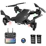 Drohne mit Kamera, Drohne für Anfänger, 1080P HD Faltbar RC Quadcopter mit FPV WLAN Live Übertragung, Flugzeit 30 Minuten(2 Akku), Kopfloser...