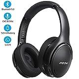 [2020 Version] Noise Cancelling Kopfhörer, Mpow Bluetooth 5.0 Kopfhörer Over Ear mit 35 Std, Mikrofon CVC 8.0 Schnellladen, Weiche Ohrenschützer & HD...