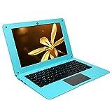 Camisin N3350 Blau 10,1-Zoll-Quad-Core-Win10-System 4G + 64 GB -Netbook-Laptop Geeignet für T?Gliche Studienreisen im BüRo (EU-Stecker)