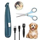 Welltop Haarschneidemaschine Haustiere mit LED-Licht, Professionelle Tierhaarschneider für Hunde und Katze, USB-Aufladung, Elektrische Haarschneidemaschine...