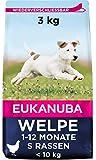 Eukanuba Puppy Trockenfutter für kleine Welpen mit frischem Huhn, 3kg