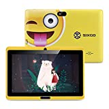 Kinder Tablet SIXGO 7 Zoll Android Pads Kleinkind Tablet Kids Edition Tablet mit WiFi Doppelkamera Kindertablett 1 GB + 16 GB Kindersicherung, Google Play Store...