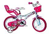 Minnie Maus Kinderfahrrad Mädchenfahrrad – 14 Zoll   Original Disney Lizenz   Kinderrad mit Stützrädern, Puppensitz und Fahrradkorb - Das Minnie Maus...