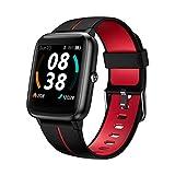 Smartwatch, KUNGIX Smart Watch GPS Fitness Tracker 5 ATM Wasserdicht Touch Screen Uhr mit Pulsuhren Schlafmonitor Schrittzähler Wettervorhersage Sportuhr...