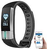 Newgen Medicals Uhr mit Blutdruckanzeige: Fitness-Armband mit Blutdruck-, Herzfrequenz- und EKG-Anzeige, IP67 (Fitnessarmband)