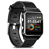 Smartwatch Fitness Armbanduhr Pulsuhren Fitness Uhr mit IP68 wasserdicht Smart Watch GPS Sportuhr 17 Sportmodi Schlafmonitor Schrittzähler Voller Touchscreen...