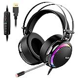 Gaming Kopfhörer für PC, Aufgerüstet Tronsmart Glary Dolby 7.1 Surround Sound USB Stecker Gaming Headset mit Mikrofon, Rauschunterdrückung Over Ear...