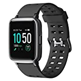 YAMAY Smartwatch,Fitness Armband Uhr Voller Touch Screen Fitness Uhr IP68 Wasserdicht Fitness Tracker Sportuhr mit Schrittzähler Pulsuhren Stoppuhr für Damen...