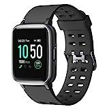 YAMAY Smartwatch,Fitness Armband Uhr Voller Touch Screen Fitness Uhr IP68 Wasserdicht Fitness Tracker Sportuhr mit Schrittzähler Pulsuhren Stoppuhr für Damen...