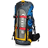 PELLOR Trekkingrucksäck 60L, Unisex Wasserdicht Professional Outdoor Wanderrucksack Rucksack mit Regenabdeckung für Camping, Wandern, Bergsteigen, Extremsport