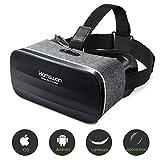 HAMSWAN 3D VR Brille für Handy, Video Movie Game Brille Virtuelle Realität Headset Kompatibel mit iOS, Android und anderen Handys innerhalb von 4.0-6.0 Zoll...