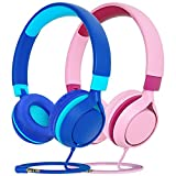Kinder Kopfhörer, Kopfhörer Kinder mit 94 dB Lautstärkebegrenzung, Kabelkopfhörer für Jugendliche,Faltbar, Einstellbar, für Schule,Reise, Kompatibel mit...