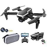 allcaca S171 Mini Faltbare Drohne RC-Quadcopter mit 1080P Doppelkameras | kopfloser Modus | Höhe halten | 3D Flip | Flugbahn | Sprachsteuerung | Start mit...