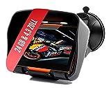 Elebest Rider W4 Navigationsgerät - Motorrad Auto LKW, 4,3 Zoll Display, Halterung, Bluetooth, Freisprecheinrichtung, Fahrspurassistent, Lebenslang Kostenlose...