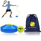 MOVEMATE Tennis-Trainer Set mit Wilson® Tennisball   innovatives Ballspiel für Draußen, im Garten, im Park für Kinder & Erwachsene   inkl. Transporttasche &...