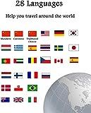 Dolmetscheinrichtung 2,4-Zoll-IPS-kapazitiver Touch Screen I Support 28 Sprachen Lernen Reisen Geschäfts Shopping Voice Translator WiF Übersetzer (Farbe:...