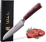 Wakoli EDIB Damastmesser kleines Santoku Messer 12cm Klinge extrem scharf aus 67 Lagen I Damast Küchenmesser und Profi Kochmesser aus echtem japanischen...