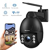 Dericam 1080P Outdoor IP Dome WiFi Überwachungskamera, 4X Optische PTZ Kamera, Autofokus, 30m Nachtsicht, Fester Betrachtungswinkel 90 °, Externer...