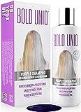Silber Shampoo - Anti-Gelbstich Purple Shampoo für blonde, blondierte, gesträhnte und graue Haar - No Yellow von für Silber- Aschblond-Tönung - ohne Sulfat...