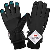 Songwin wasserdichte Winterhandschuhe, 3M Thinsulate Warme Touchscreen Handschuhe für Herren und Damen, Fahrradhandschuhe für Reiten Laufen Skifahren Wandern...
