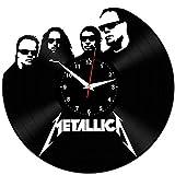EVEVO Metallica Wanduhr Vinyl Schallplatte Retro-Uhr Handgefertigt Vintage-Geschenk Style Raum Home Dekorationen Tolles Geschenk Wanduhr Metallica