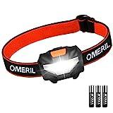 Stirnlampe OMERIL LED Stirnlampe Kopflampe, Superhell Wasserdicht Leichte Mini Stirnlampe LED mit 3 Helligkeiten, Stirnlampe Kinder fürs Laufen, Joggen,...