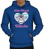 ShirtStreet Gaudi Wiesn Herren Hoodie Männer Kapuzenpullover Oktoberfest - Mein Dirndl ist in der Wäsche 2, Größe: 3XL,Royal Blau